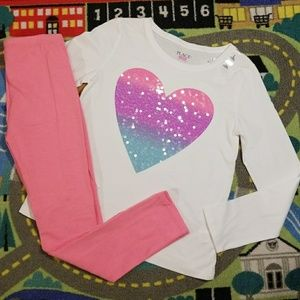 The Children's Place Heart Outfit NWT Size 10/12